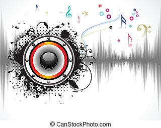 hangzik, elvont, zenés, háttér
