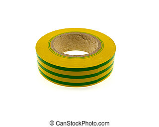 Hank of a yellow insulating tape