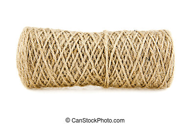 hank of rope on a white background