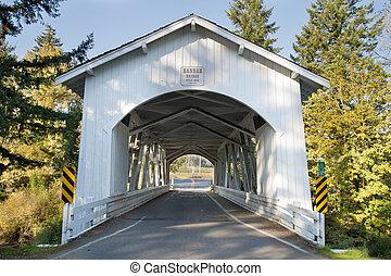 Hannah Covered Bridge in Linn County Oregon