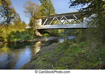 Hannah Covered Bridge over Thomas Creek Oregon 2