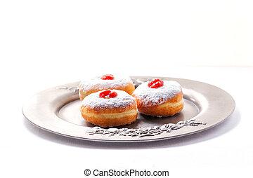 Hannuka Symbols Donuts - The Symbols of Jewish Hanukkah -...