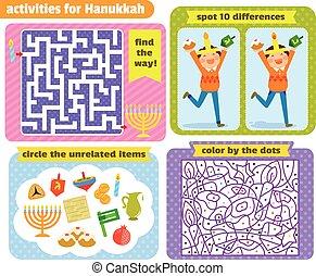 hannukkah, jeux, puzzle