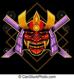 hannya, samouraï, masque