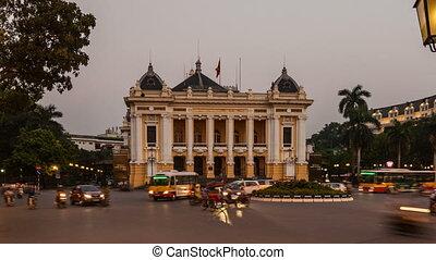 Hanoi Opera House - Time Lapse - Vietnam