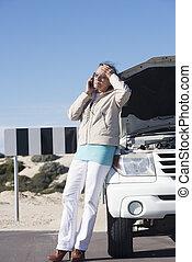 hansúlyos, nő, autó, letör