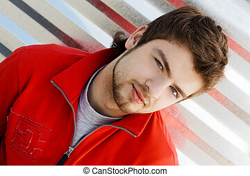 hansdsome, homem jovem, retrato