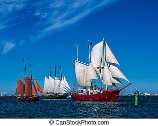 Hanseatic Sail 2012  in Rostock (Germany).