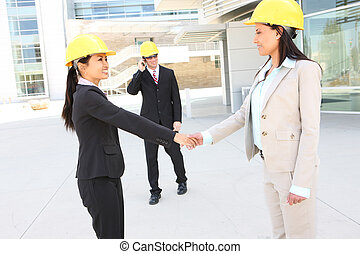 hanshake, drużyna, zbudowanie