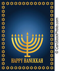 Hanukah Design illustration card