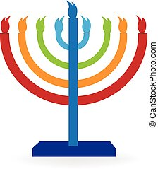 Hanukah symbol vector graphic design