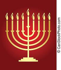 hanukkah, カード, 願い, ベクトル