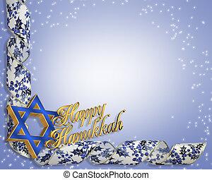 hanukkah, 卡片, 背景