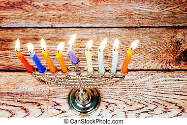 hanukkah, 由于, 大燭台, 傳統