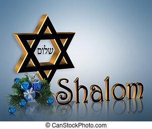 hanukkah, 背景, shalom, david的星