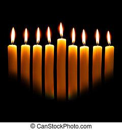 hanukkah, 蜡燭