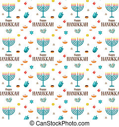 Hanukkah background and template - Happy Hanukkah greeting...