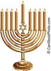 Hanukkah candleholder with 9 candles. Hanukkah candleholder...