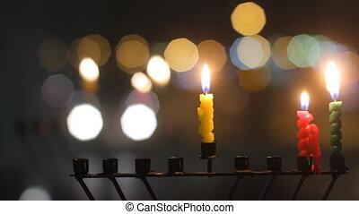 Hanukkah candles - Beautiful candles and hanukkah menorah...