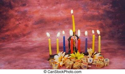 Hanukkah Candles symbol, tradition - Hanukkah Candles Menora...