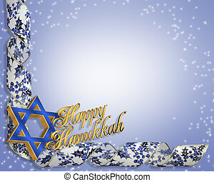 Hanukkah Card background - 3 Dimensional illustration ...