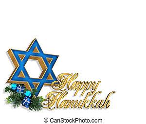 Hanukkah Card background - 3 Dimensional illustration ...