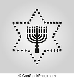 Holiday shalom hebrew design with david star jewish greeting hanukkah david star jewish holiday symbol flat design stock vector illustration m4hsunfo
