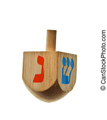 hanukkah dreidel isolated on a white background