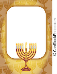 Hanukkah Gold Page Border