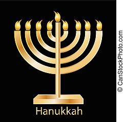 Hanukkah golden symbol