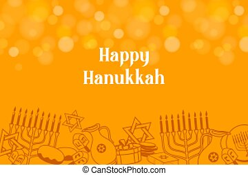 hanukkah, judío, plano de fondo, feriado, fiesta, feliz, saludos