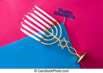 hanukkah, juif, menorah