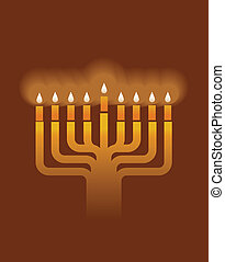 Hanukkah menorah background