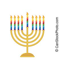 Hanukkah menorah, candelabrum for jewish holiday of Hanukkah...