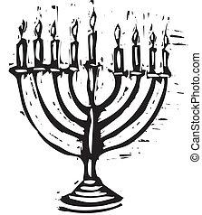 Hanukkah Menorah - A Hanukkah Menorah for the holidays in a...