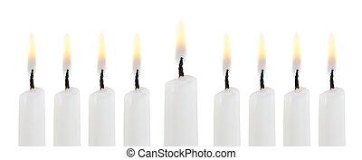 Hanukkah menorah isolated on white background