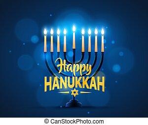 hanukkah, plano de fondo, feliz, cover.