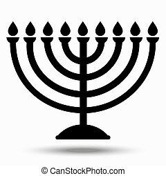 hanukkah, símbolo judío, -, chanukiah, atonement., feriado, ...