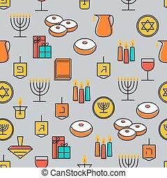 Hanukkah seamless pattern. Hanukkah simbols. Hanukkah...