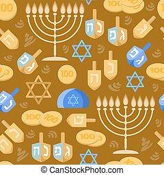 Hanukkah Seamless pattern. Jewish holiday.