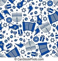 Hanukkah seamless pattern.