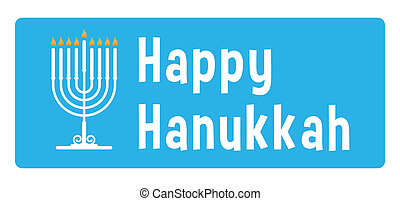 Hanukkah sticker  - Hanukkah blue sticker with candle