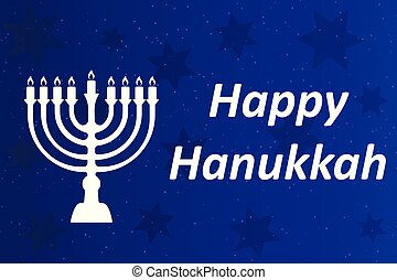 Hanukkah Typographic Vector Design - Happy Hanukkah. A -...