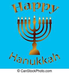 Hanukkah Typographic Vector Design - Happy . - Hanukkah...