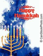 hanukkah, vacaciones judías, plano de fondo, feliz