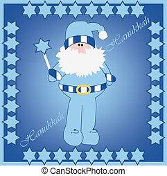 hanukkah - Vector illustration of Hanukkah Harry in card...