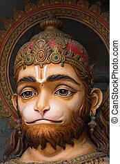 Hanuman statue in Rishikesh, India - Hanuman statue, hindu...