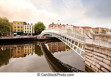 hapenny, 橋, ダブリン, アイルランド