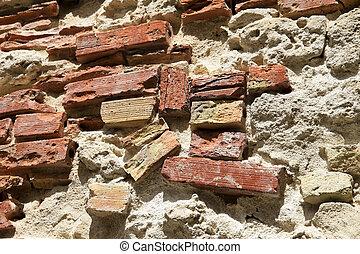 Ancient Roman Brick Wall