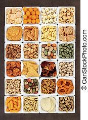 hapje voedsel, sampler